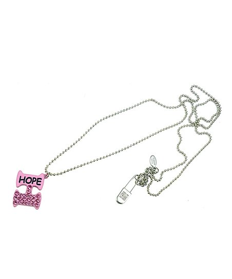 Pink & Silver Hope Necklace