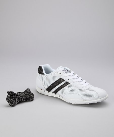 White & Black Sazuka Sneaker - Women