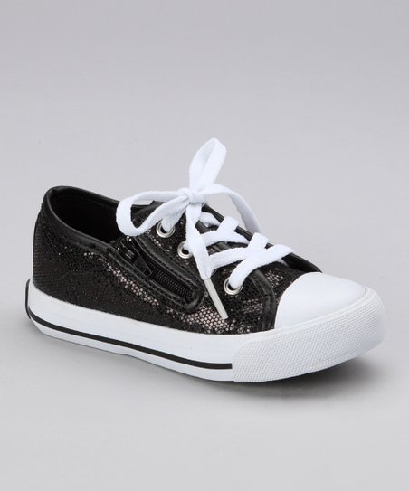 Black Slider Sneaker - Kids