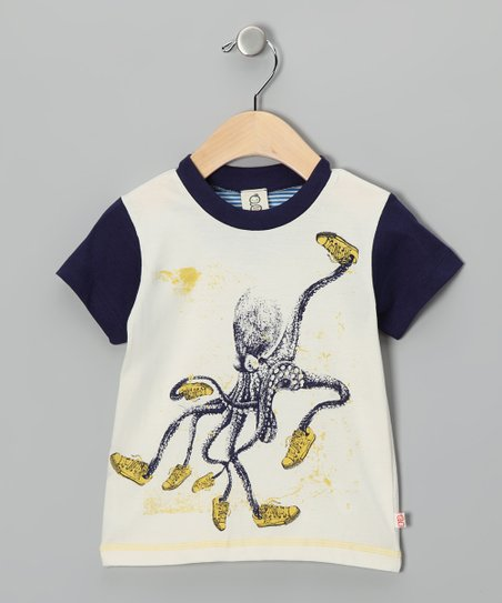 Blue Sneaker Octopus Organic Tee - Toddler & Boys