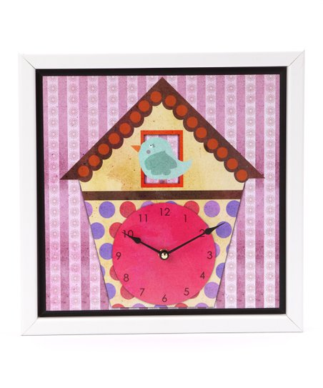 Bird House Art Clock