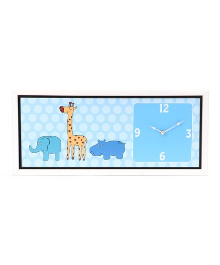 Baby Jungle Animals Art Clock