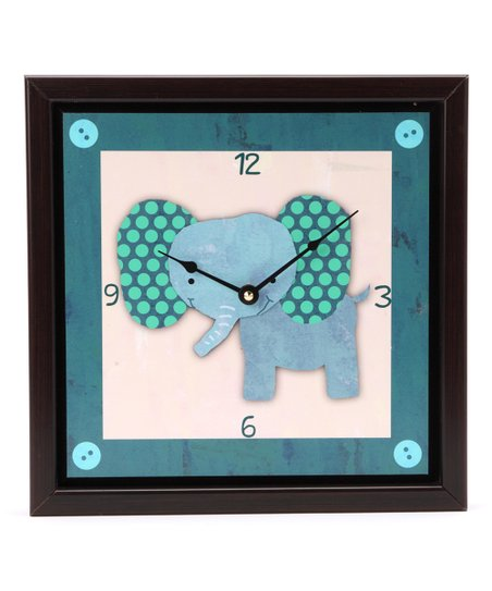 Baby Elephant Art Clock