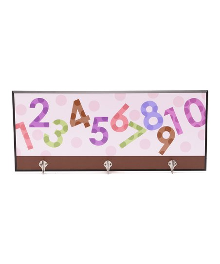 Pink Numbers Decorative Wall Hanger