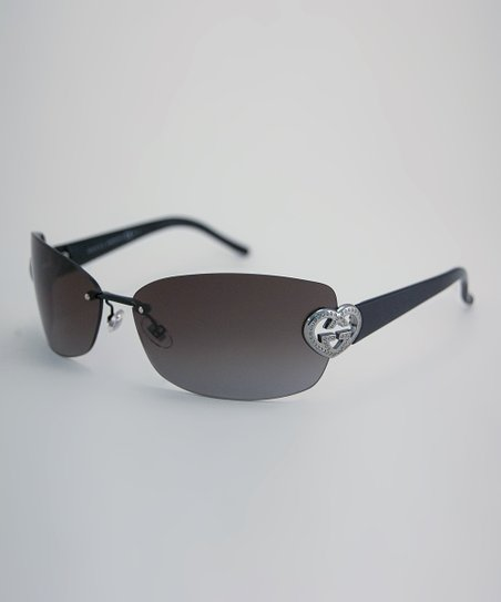 Black Gem Heart Logo Sunglasses