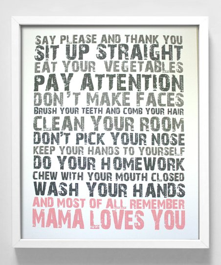 Pink 'Mama Loves You' Print
