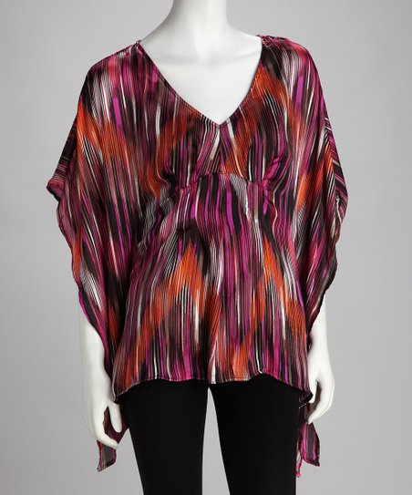 Halo Black & Rust Zigzag Tunic