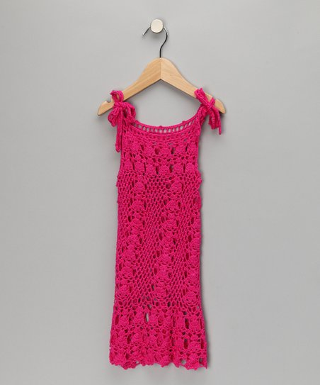 Fuchsia Knit Beach Dress - Toddler