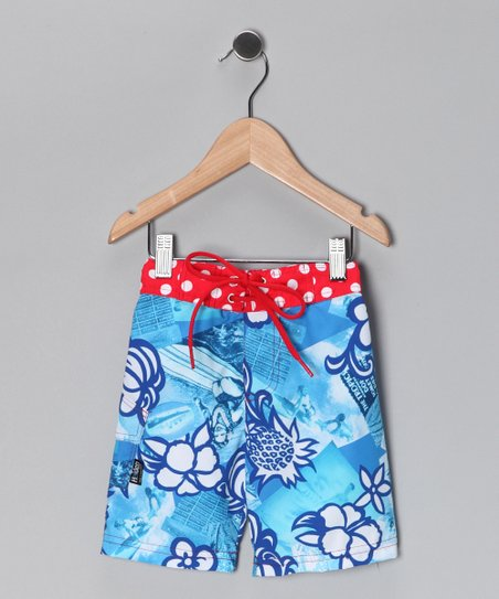 Blue Cherry Bomb Boardshorts - Infant, Toddler & Boys
