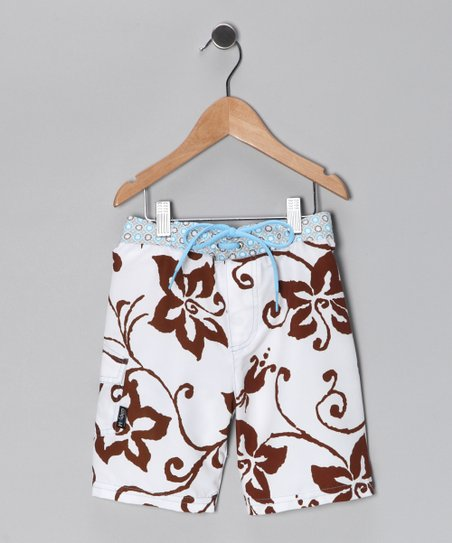 Brown Tiki Hut Boardshorts - Infant & Boys