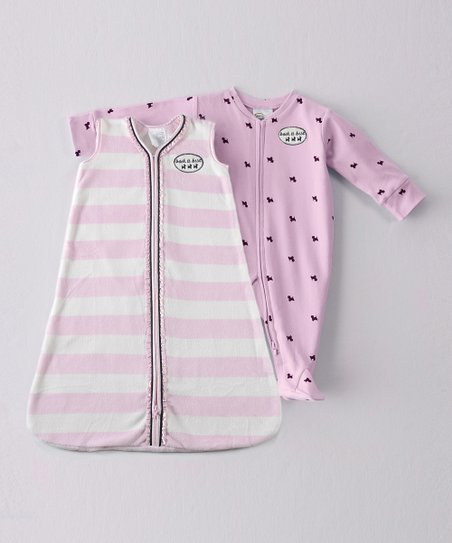 Pink Stripe SleepSack & Footie