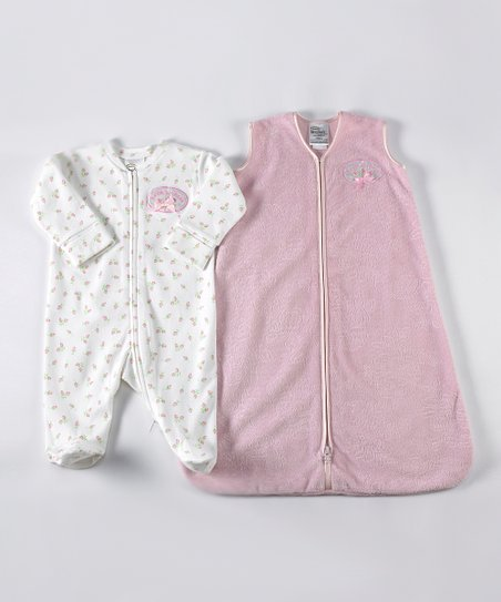 Pink Rose Velboa SleepSack & Footie