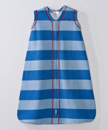 Blue & Gray Stripe SleepSack