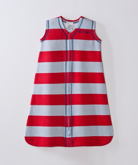 Red & Gray Stripe SleepSack
