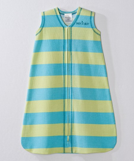 Green &amp; Blue Stripe SleepSack