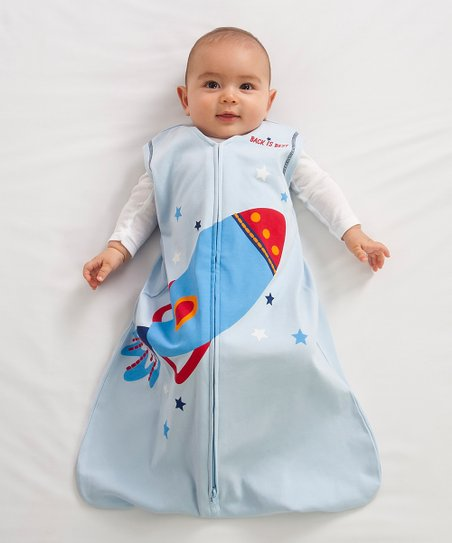 Light Blue Rocket SleepSack