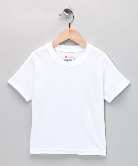 White Tee Set - Toddler & Boys