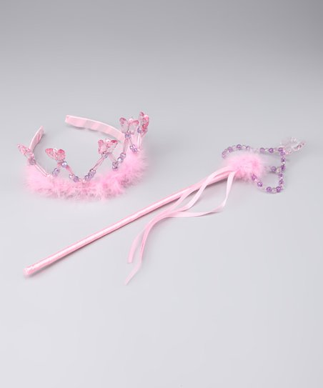 Happily Ever After Pink & Purple Fabiola Headband & Wand