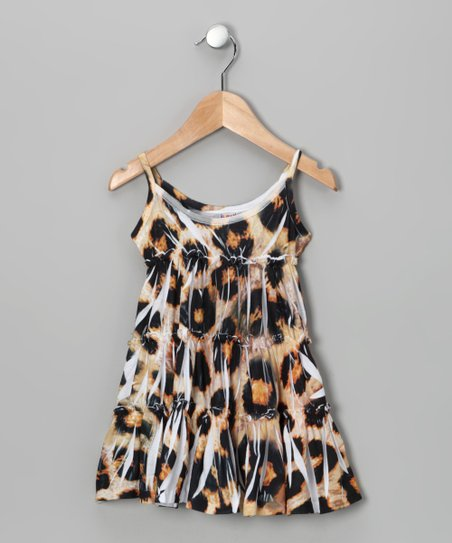 Brown Leopard Babydoll Dress - Toddler & Girls