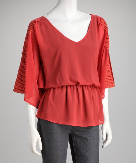 Harper Geranium Crocheted Patricia Top