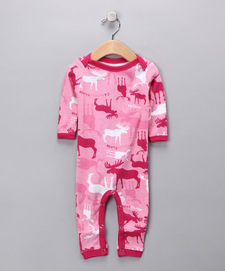 Hot Pink Moose Playsuit