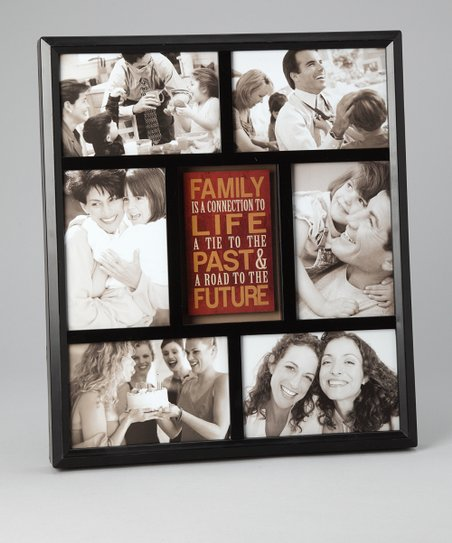 Black 'Family Past & Future' Collage Frame