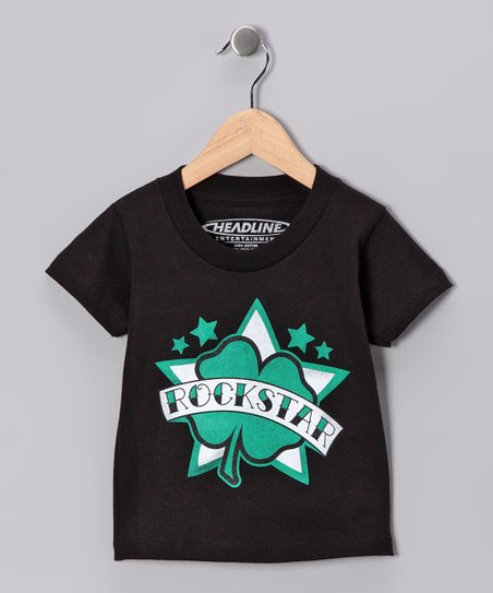 Black Shamrock 'Rockstar' Tee - Toddler & Kids