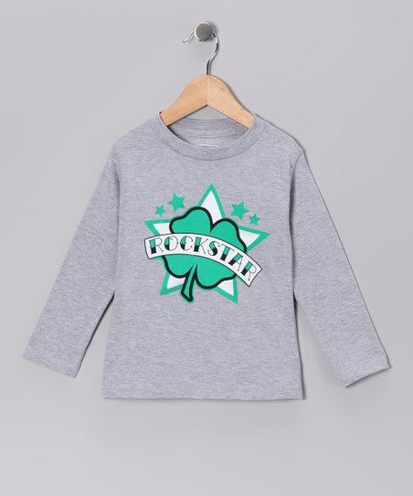 Gray 'Rockstar' Tee - Infant, Toddler & Kids