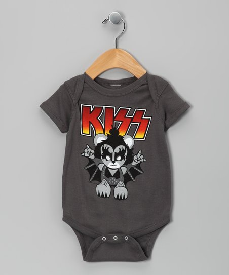 Charcoal KISS Lil Demon Bodysuit - Infant