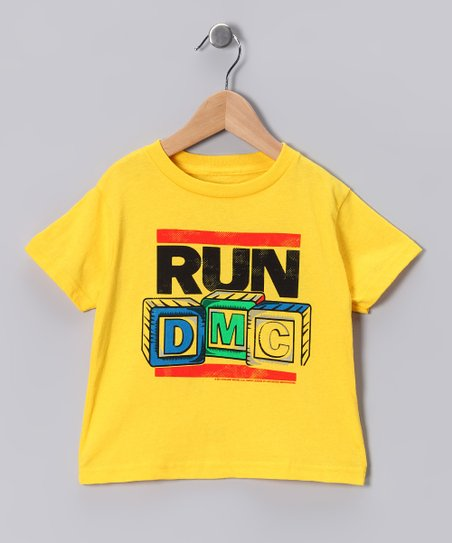 Yellow 'Run DMC' Tee - Toddler & Kids