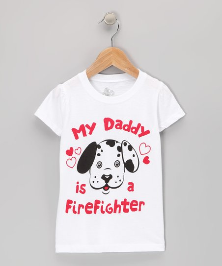 White Puppy Face Tee - Toddler & Kids