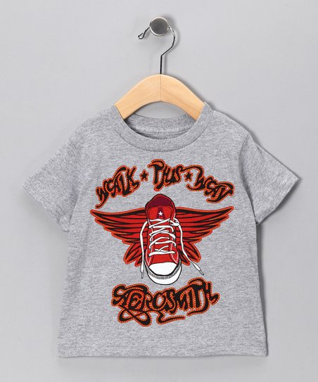 Gray Aerosmith 'Walk This Way' Tee - Toddler & Kids