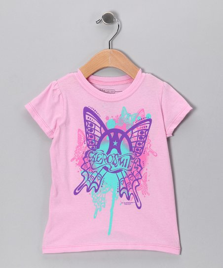 Pink 'Aerosmith' Butterfly Tee - Toddler & Kids