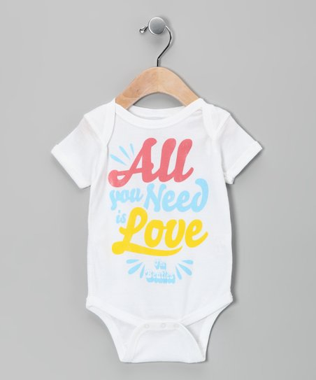 White Beatles 'All You Need Is Love' Bodysuit - Infant