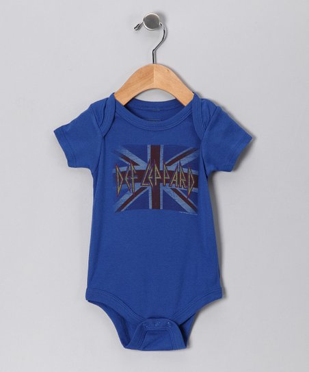 Blue &#039;Def Leppard&#039; Union Jack Bodysuit - Infant
