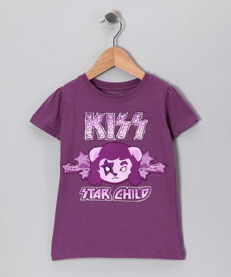Grape 'KISS Star Child' Tee - Toddler & Kids