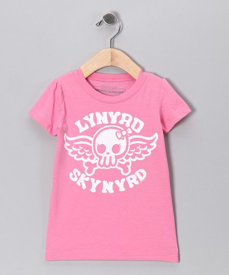 Pink &#039;Lynyrd Skynyrd&#039; Skull Tee - Toddler &amp; Girls