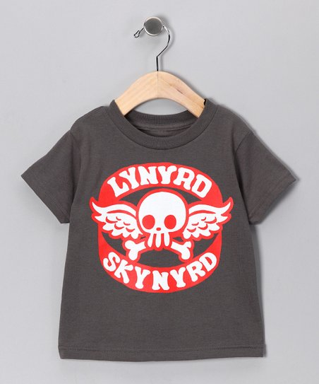 Charcoal 'Lynyrd Skynyrd' Skull Tee - Toddler & Kids