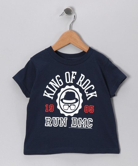 Navy Run DMC &#039;King of Rock&#039; Tee - Toddler &amp; Kids