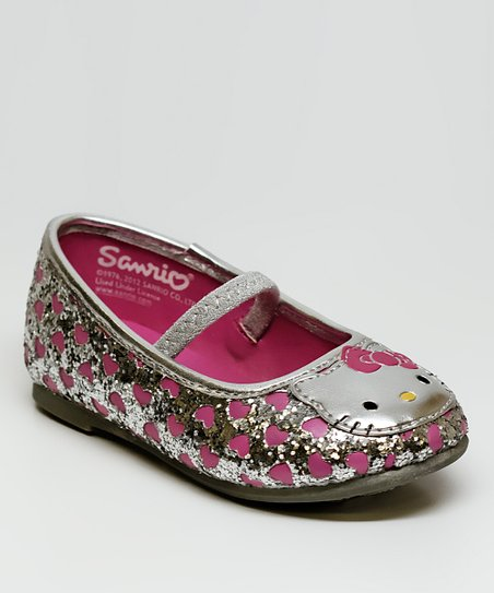 Silver Hello Kitty Lil Sydney Flat