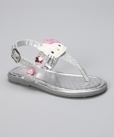 Silver Hello Kitty Jewell Sandal