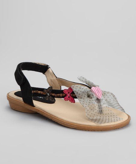 Black Butterfly Sandal