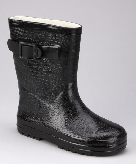 Black Camp Rain Boot - Kids