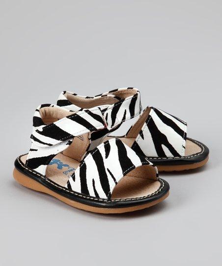Black & White Zebra Squeaker Sandal