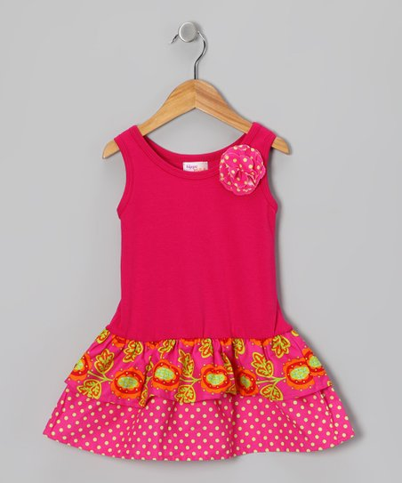 Pink & Lime Tulip Amy Dress - Infant, Toddler & Girls
