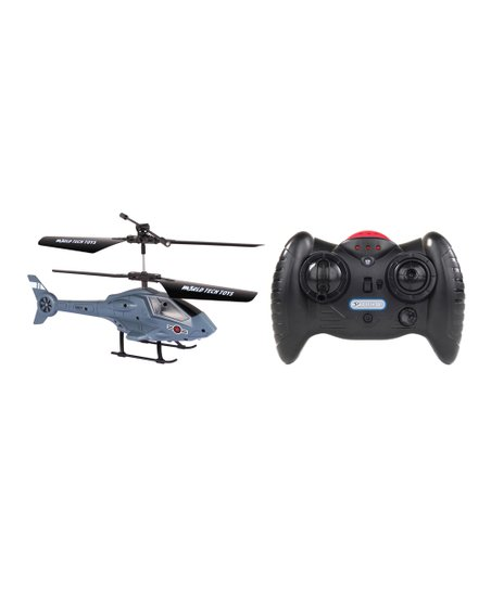 HobbyTron Navy Gray Apollo Micro Remote Control Helicopter Set