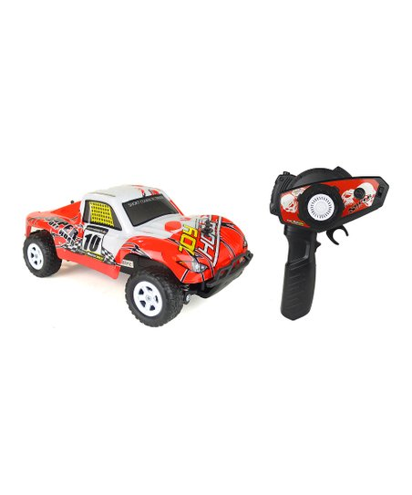 HobbyTron Red Hurricane Off-Road Remote Control Car