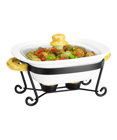 10&#039;&#039; Square Covered Casserole Dish &amp; Stand