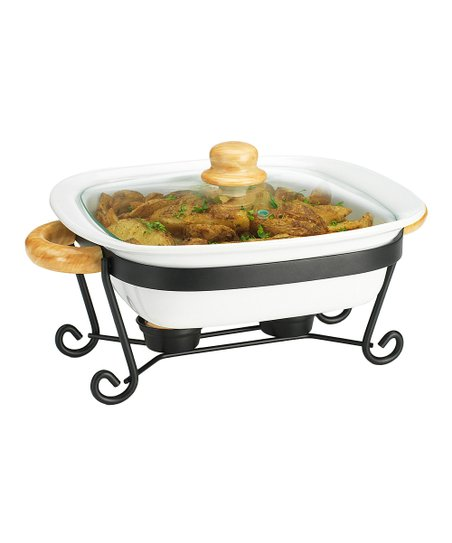 11'' Square Covered Casserole Dish & Stand