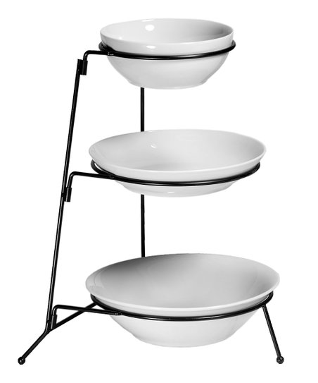 Bowl &amp; Rack Tower Set